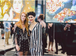 Vera Blue and Montaigne at Her Sound, Her Story exhibition at Emporium, Melbourne